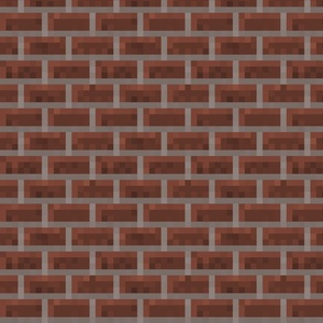 Pixelated Red Bricks - Medium