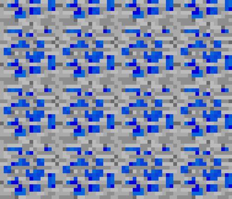 Minecraft Lapis Lazuli ore - Large fabric by elsielevelsup on Spoonflower - custom fabric