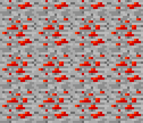 Minecraft Redstone Ore - Large fabric by elsielevelsup on Spoonflower - custom fabric