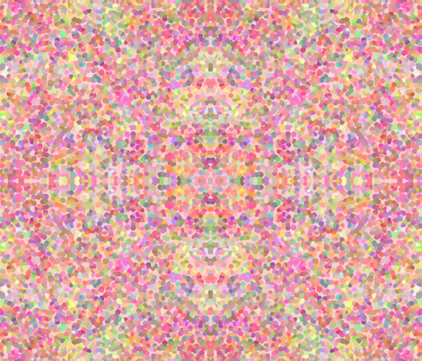 Hearts' Ease Pointillism in mirror repeat fabric by anniedeb on Spoonflower - custom fabric