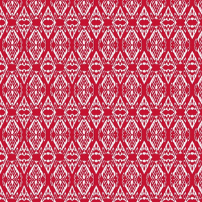 Red and White Ikat