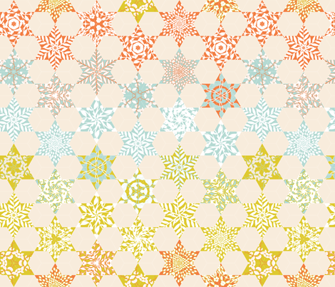 Gradient Floral Quilt fabric by candyjoyce on Spoonflower - custom fabric