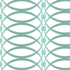 O Ring Stripe Aqua
