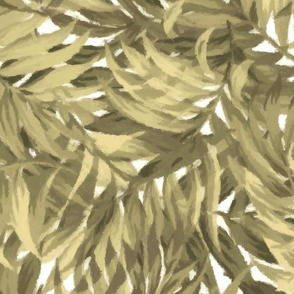 Tropical Leaf Khaki