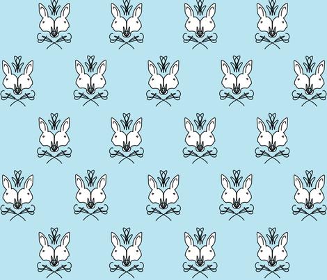Elegant Rabbit fabric by savagelystitched on Spoonflower - custom fabric