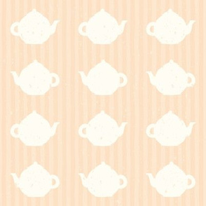 Pink teapot and stripes pattern