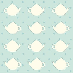 Teapot blue pattern