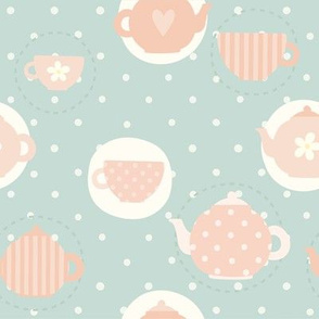 Tea time cute pattern
