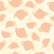 Tea time old pink pattern