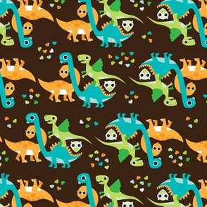 Cuteness baby dinosaur illustration