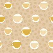 Coffee beans and cup pattern