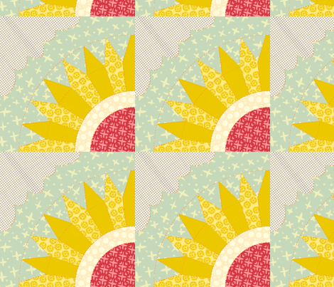 Sunburst Flower fabric by narthex on Spoonflower - custom fabric