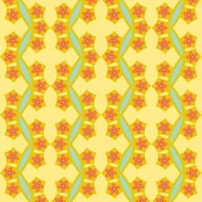 Floral Cross Maze -a Spring Floral Quilt Block Coordinate