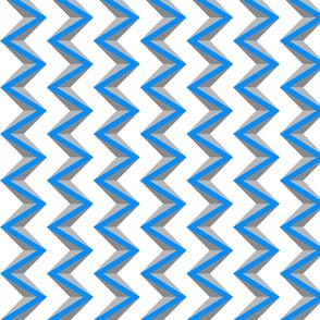 nested chevron 3D blue gray