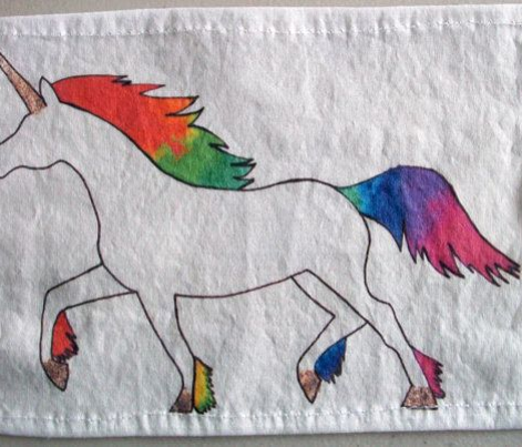 Rainbow Unicorn Print