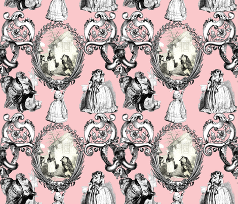 Those Animals Think They're People Toile ~ Dauphine fabric by peacoquettedesigns on Spoonflower - custom fabric