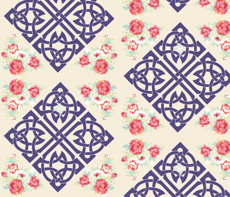 Celtic Garden Walk  fabric by walkwithmagistudio on Spoonflower - custom fabric