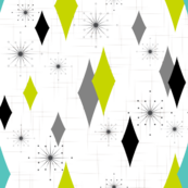 Burmond #G1 (Aqua/Lime/Grey)