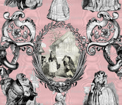 Those Animals Think They're People Toile ~ Moire ~ Dauphine