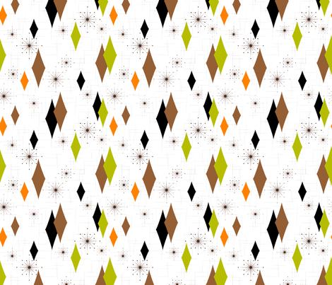 Burmond #B1 (Orange/Olive/Brown) fabric by gammagammahey on Spoonflower - custom fabric