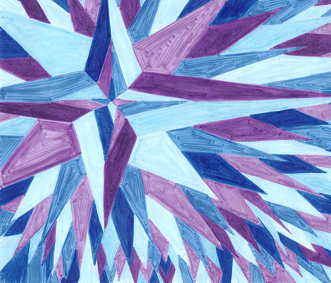 Starburst fabric by trybyk on Spoonflower - custom fabric