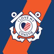 I Love My Coastie - Navy Blue