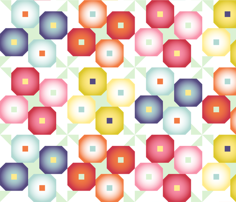 Pansy Quilt fabric by medamade on Spoonflower - custom fabric