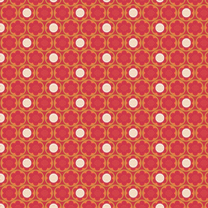 Spring Blooms_Red_Dotty_Flowers