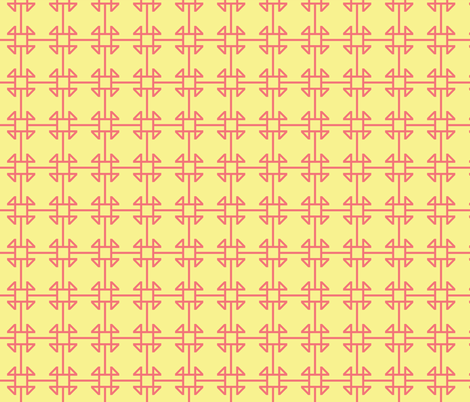 square knot yellow/pink fabric by arm_pillozzz on Spoonflower - custom fabric