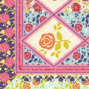 Spring Floral Cheater Quilt