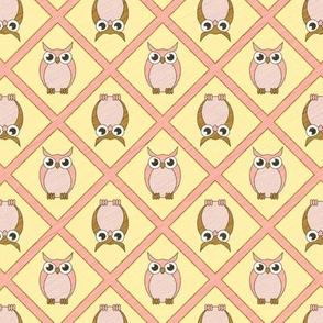 Nursery Owls - Pink