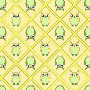 Nursery Owls - Green