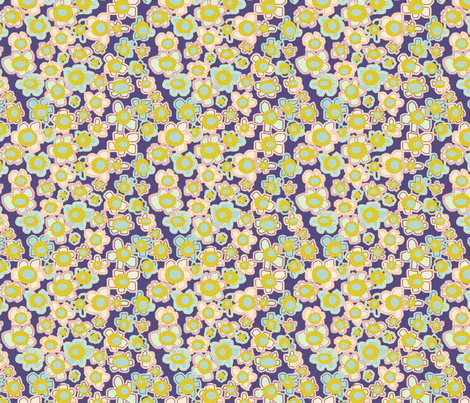 Ugly flowers in Purple fabric by ceanirminger on Spoonflower - custom fabric