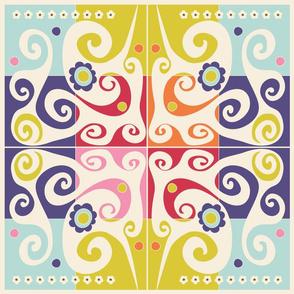 Spring quilt block