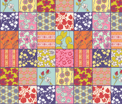 Spring Color Cheater Quilt fabric by jadegordon on Spoonflower - custom fabric