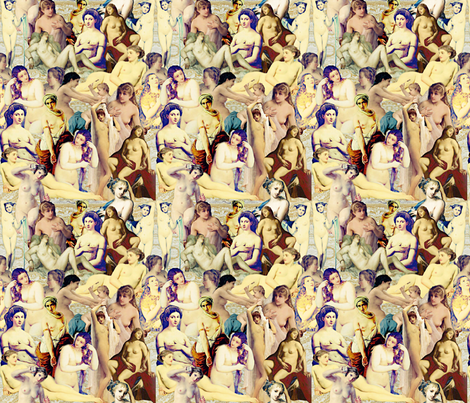 The Classical Ladies  fabric by whimzwhirled on Spoonflower - custom fabric
