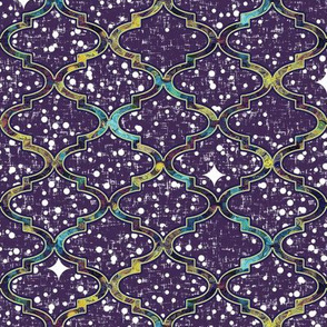 Twilight in a patterned Moroccan quatrefoil by Su_G