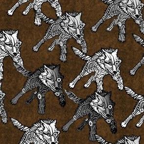 steampunk wolfpack bronze