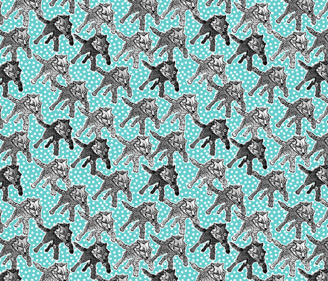 steampunk wolfpack day snow fabric by glimmericks on Spoonflower - custom fabric