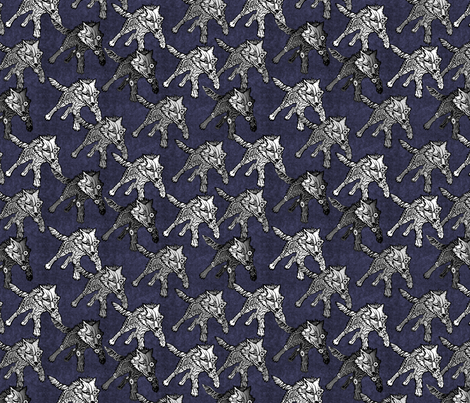 steampunk wolfpack midnight thunder fabric by glimmericks on Spoonflower - custom fabric