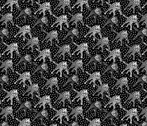 steampunk wolfpack snow fabric by glimmericks on Spoonflower - custom fabric