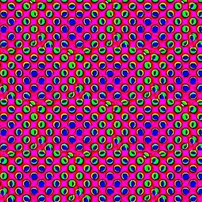 iridescent 3-d circles