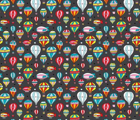 Hot air balloon nursery illustration pattern