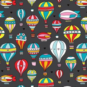 Hot air balloon nursery illustration pattern