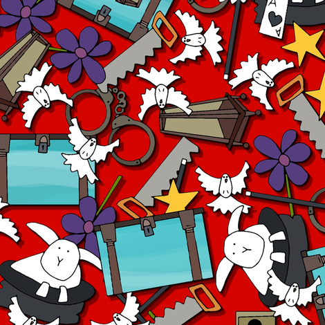 magic show ditsy fabric by scrummy on Spoonflower - custom fabric