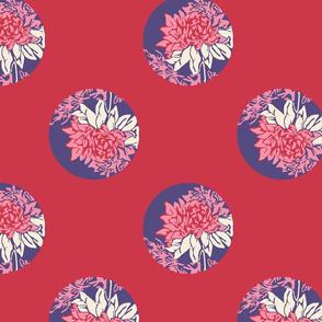 Flower Polka Dot - pink