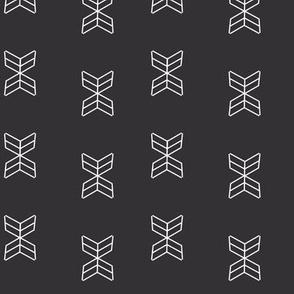 Aztec arrowheads in Black
