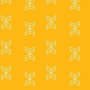 Aztec arrowheads in Mustard
