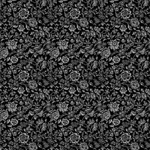 William Morris Ditsy ~ Black and White