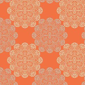Profile Floral Medallion - orange